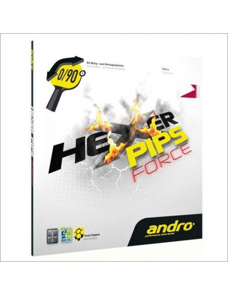 Rubber Andro Hexer Pips Force