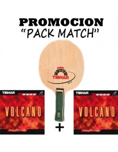 Pack Blade Tibhar Match + 2 Rubbers Volcano