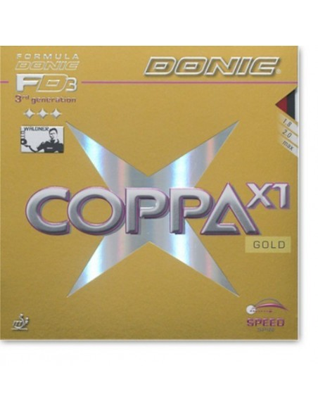 Rubber Donic Coppa X1 Gold