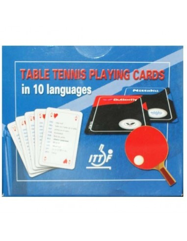 Cartas de Póker Tenis de Mesa (2 Barajas)