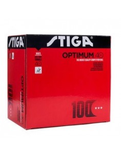 Pelotas Stiga plastico Optimun 40+ 3*** pack 100 uds.
