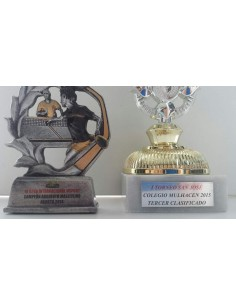 Stamping trophy and medals