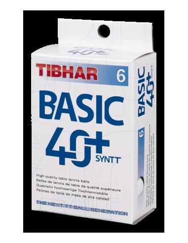 Pelotas Tibhar Basic 40+ Synt plástico. Pack 6