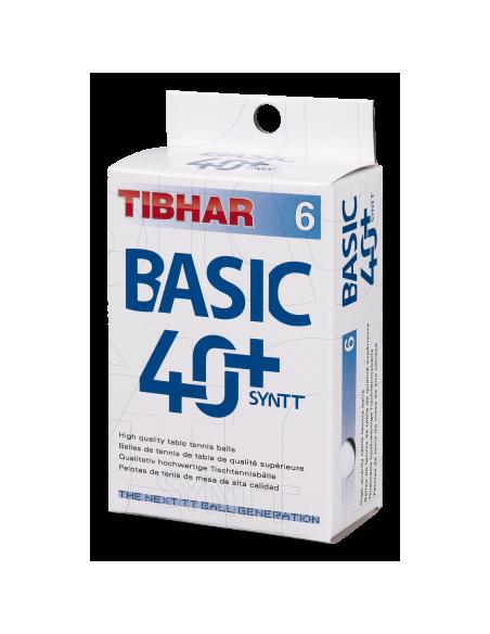 Pelotas Tibhar Basic 40+ Synt NG plástico. Pack 6