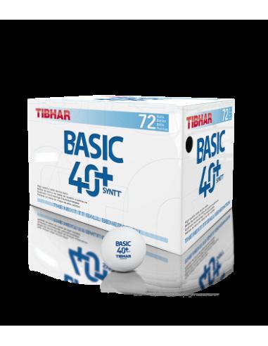 Balls Tibhar Basic  40+ Synt  plástic. Pack 72