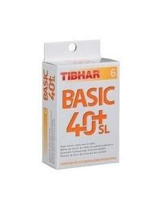 Balles en plastique Tibhar Basic 40+ SL Seamless. Pack 6