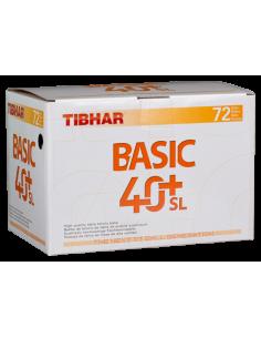 Balles en plastique Tibhar Basic 40+ SL Seamless. Pack 72