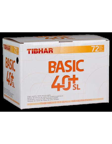 Balls Tibhar Basic 40+ SL Seamless plástic. Pack 72