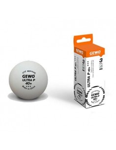 Balls GEWO Ultra P40+ 3*** plástic. Pack 3