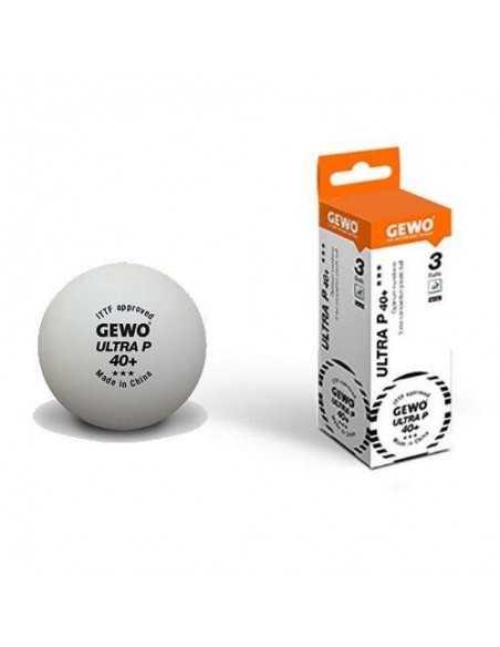 Balls GEWO Ultra P40+ 3*** plástic. Pack 3
