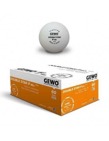 Pelotas GEWO 2**  P40+ plástico. Pack 60
