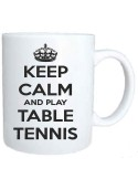 Taza Keep Calm and Play Table Tennis