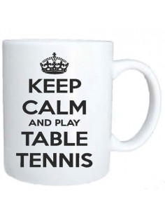 Tasse Keep Calm and Play Table Tennis