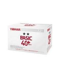 Balls Tibhar Basic 2** 40+ Synt plástico. Pack 72