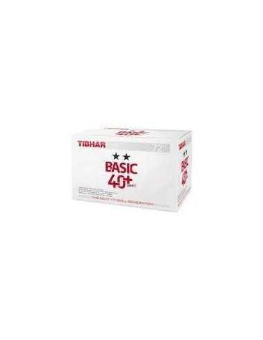 Bolas Tibhar Basic 2**  40+ Synt  plástico. Pack 72