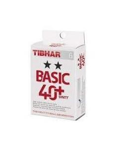 Pelotas Tibhar Basic 2** 40+ Synt plástico. Pack 6