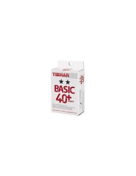 Balls Tibhar Basic 2** 40+ Synt plástico. Pack 6