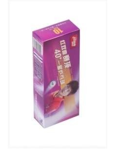 Balle plástique DHS Dual 1* 40+ pack 10