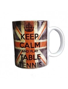 Taza bandera Keep Calm and Play Table Tennis