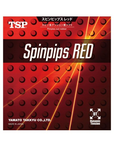 Rubber TSP Spinpips Red