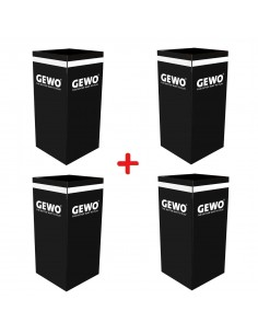 GEWO towelbox black PACK X4