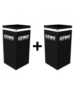 GEWO towelbox black PACK X2