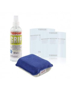 Pack Rubber Cleaner Tibhar Grip 250ml + Sponge + 2 Film protector