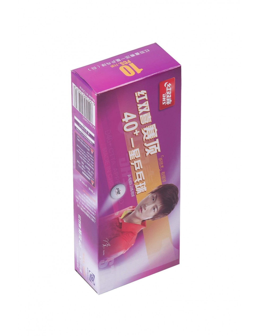 Balle pl stique dhs d40 1 pack 10 seam - Balle plastique tennis de table ...
