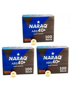 Balle plastique NARAQ 1* Basic Training 40+ ABS pack 300 Orange