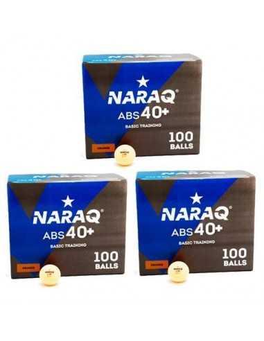 Pelotas NARAQ 1* Basic Training 40+ ABS pack 300 naranjas