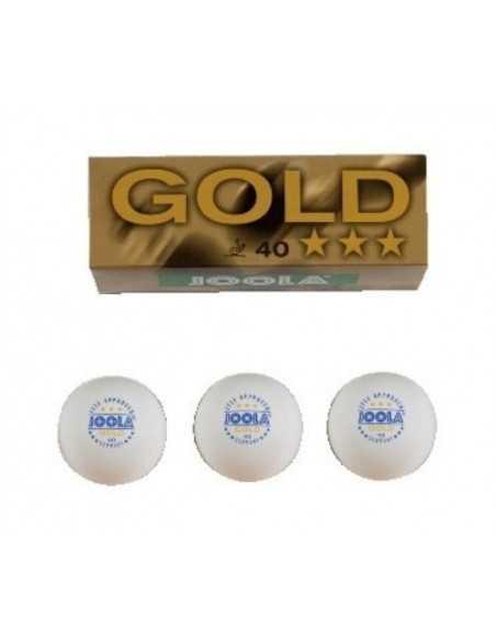Balle Joola GOLD *** 40, (boîte de 3)