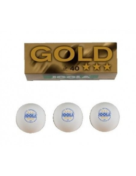 Balls Joola GOLD *** 40, 3 unidades