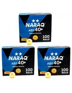 Balle plastique NARAQ 2** Premium Training 40+ ABS pack 300 Orange