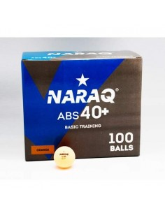 Plastic ball NARAQ 1* Basic Training 40+ ABS pack 100 Orange