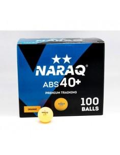 Balle plastique NARAQ 2** Premium Training 40+ ABS pack 100 Orange