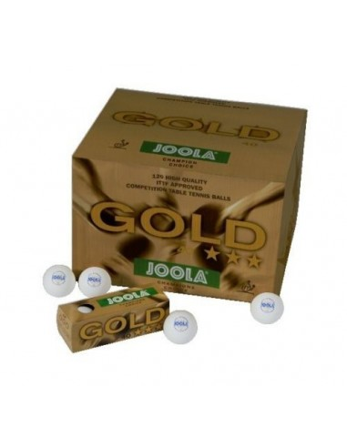 Pelota Joola GOLD *** 40, 120 unidades