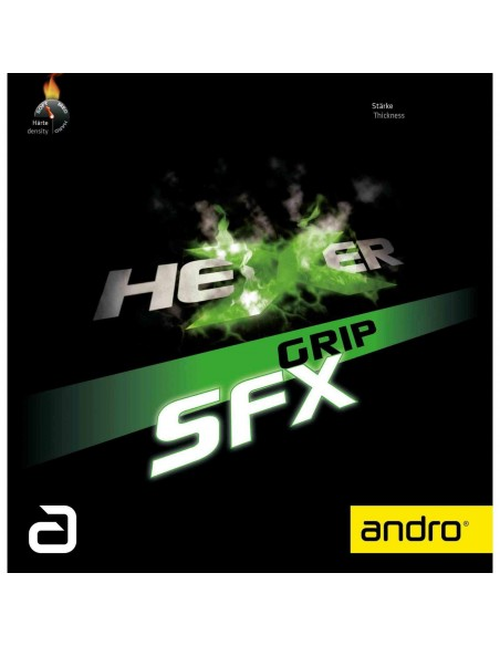 Borracha Andro Hexer Grip SFX