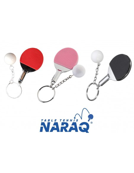 Chaveiro NARAQ raqueta metal com bola