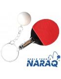 NARAQ keychain racket with ball