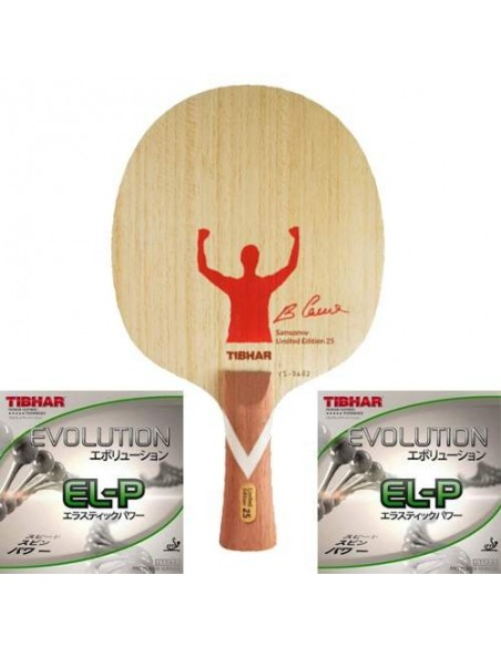 Tibhar Package Limited Edition 25th Years Samsonov BLADE VS Unlimited + Rubbers