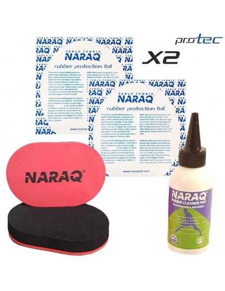 Pack Rubber Cleaner NARAQ 100ml + Sponge + 2 Film protector