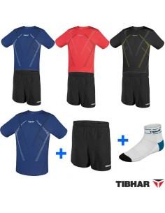 Pack T-Shirt Tibhar Cross + calçoës Tibhar MC + Meias