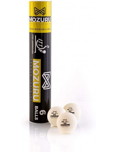 MOZURU balls ABS ITTF 3 STAR 40+ pack 6